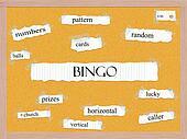 Bingo Corkboard Word Concept