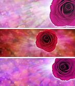 Love and hearts website banners