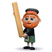 3d Scotsman tosses the caber