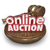 Online Auction Gavel Internet Bidding Web Site Win Buy Item