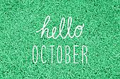 Hello October greeting