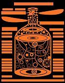 halloween vector alcohol bottle