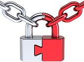 Padlock as puzzle security system