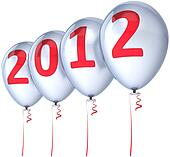New Year balloons party decoration