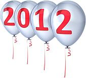 Happy New 2012 Year balloons