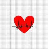 The heart rate symbol