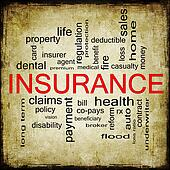 Grunge Insurance Word Cloud Concept