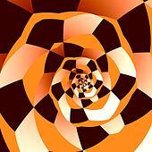 Artistic Spiral. Abstract Art.