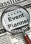 Job Opening Event Planner. 3D.
