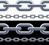 Realistic gray chain