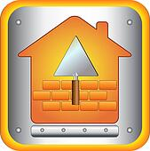 trowel and bricks house