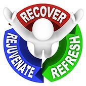 Recover Rejuvenate Refresh Words Self Help Therapy