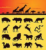 African Animal Clip Art - Royalty Free - GoGraph