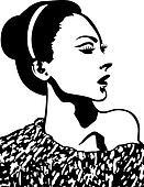 lady pop art design