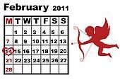 February calendar 2011