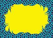 Pop Color Cheetah Fur Border