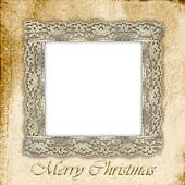 old empty photo frame for Christmas