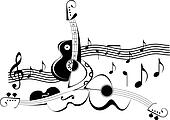 Music instruments - vector illustra