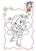 coloring book - fairy 2