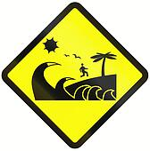 Tsunami Danger Zone In Indonesia