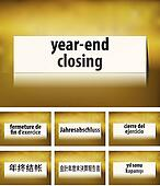 Year End Closing Concept on white background