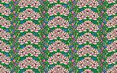 art nouveau water lilies