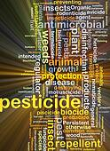Pesticide background concept glowing