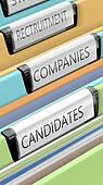Files on candidates and company positions