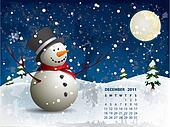 December calendar - Snowman