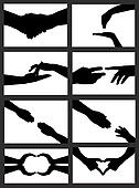 hand signs collage