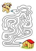 the game of the labyrinth, the dog