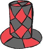 doodle masquerade hat