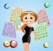 Girl win at bingo