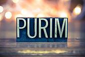 Purim Concept Metal Letterpress Type