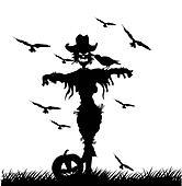 scarecrow vector silhouettes