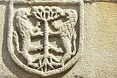 Medieval blazon in old door,Portugal.