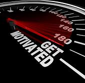 Get Motivated Excited and Encouraged Speedometer