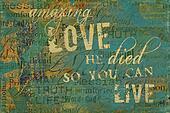 Amazing Love Religious Background