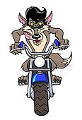 Cool Motorcycle Wolf