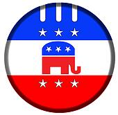 Republican badge button
