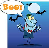Halloween Vampire Screaming Boo