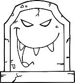 Outlined Evil Headstone