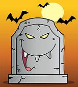 Laughing Tombstone Mascot