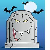 Laughing Tombstone Cartoon