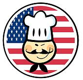 Asian Winked Chef Man Face