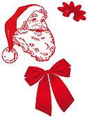 Santa Claus in Christmas card