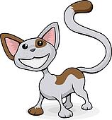 Cute happy cat cartoon illustration