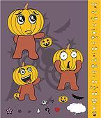 pumpkin child cartoon Halloween