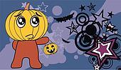 pumpkin child cartoon Halloween b4