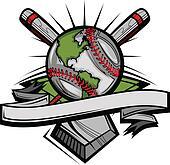 Global Baseball Vector Image Templa